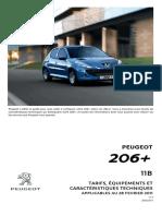 Caractristiques Techniques Peugeot 206 Plus