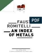Romitelli Index of Metals
