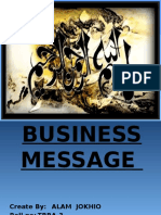 pre On Business Message.pptx