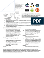 Operating Systems Classification