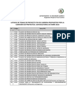 Temas PFC Propuestos Octubre 2014