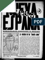 NUEVA ESPAÑA. Nº 20. 01-11-1930