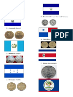Banderas y Monedas de Centromerica