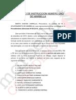 Escrito de acusación presentado por el Ayuntamiento de Marbella en 2015 y retirado en abril de 2019