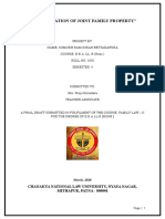 Family Law Project On the Classification of Joint Family Property