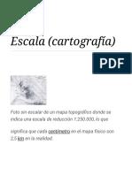 Escala (Cartografía) - Wikipedia, La Enciclopedia Libre