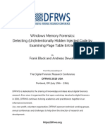Paper-windows Memory Forensics Detecting Unintentionally Hidden Injected Code by Examining Page Table Entries