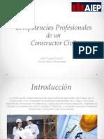 Competencias Profesionales  CONSTRUCTOR CIVIL