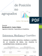 Medidas de Posición en datos no agrupados