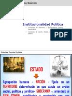 EL ESTADO Y LA INSTITUCIONALIDAD POLÍTICA apoyo prueba