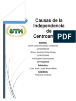 Causa de La Independencia de Centroamérica Tarea Grupo 1