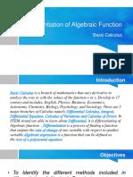 Differentiationof Algebraic Function Reporting