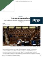 EL PAÍS. Edit. Contra Unas Nuevas Elecciones, 1-8-19