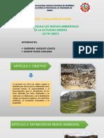 Ley Que Regula Los Pasivos Ambientales de La Actividad Minera - Grupo 3