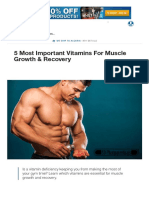 5 Most Important Vitamins for Muscle Growth & Recovery