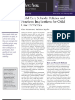 Subsidies From the Provider Perspective