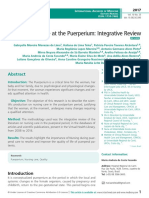 Nursing Assistance at the Puerperium, Integrative Review