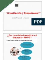 1.Constitución y Formalizacion de Las Empresas.