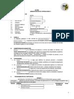 A Administracion de Operaciones II 2016 I