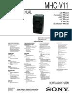 Sony Mhc-V11 Ver1.2 Sm