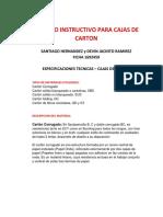 METODO INSTRUCTIVO PARA CAJAS DE CARTON - FICHA 1692459 - AMI - SANTIAGO HERNANDEZ RUBIANO ,DEVIN JACINTO RAMIREZ DUARTE.docx