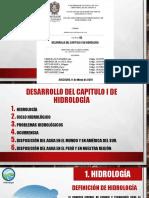 Desarrollo de cap I.  Hidrología Cap. i (1)