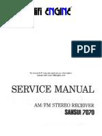 Manual serviço Sansui 7070