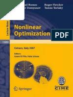 Nonlinear Optimization - Varios Autores