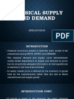 Classical Supply and Demand