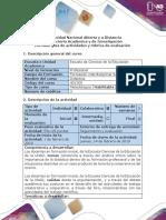 Guía de Actividades y Rúbrica de Evaluación. Paso 1. Actividad Inicial