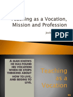 Teaching as a Vocation and a Mission