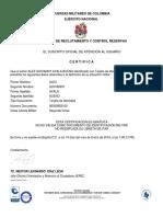 Certificado de Libreta Militar