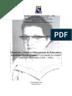 Memórias e Práticas Educacionais da Educadora Argentina Pereira Gomes