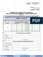 Solicitud de Registro de Empresa Consultora Ambiental