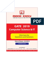 CS GATE 2019 Solutions