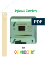 01 Colorimetry Spectrophometry