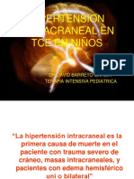 HIPERTENSION INTRACRANEAL EN TCE EN NIÑOS