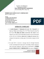 Affidavit Complaint of Ms.V