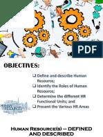 My Presentation Human Reosurce