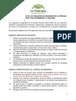 Reglamento Interno de Los Vigilantes de Seguridad Del Fraccionamiento La Toscana
