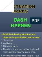 Differences of Dash and Hyphen