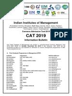 CAT 2019 Information Bulletin