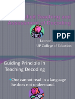 Explicit Teaching and Assessment of Decoding