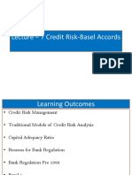 Lecture 7 Credit Risk Basel Accords