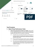 Pump Performance Test 3