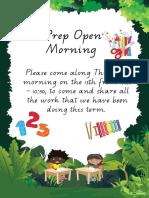 prep open morning initation