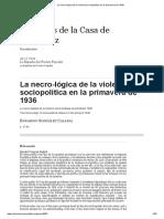 Eduardo González Calleja - La Necro-lógica de La Violencia Sociopolítica en La Primavera de 1936 (Mélanges de La Casa de Velázquez, 41, 1, 2011)