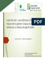 Méthode d'évaluation impactant la gestion d'espaces naturels