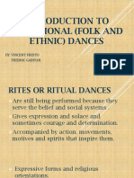 INTRODUCTION TO traditional (Folk AND ETHNIC) DANCES