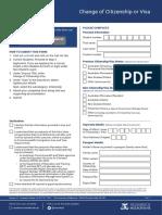 Unimelb Stop 1 Change of Citizenship form